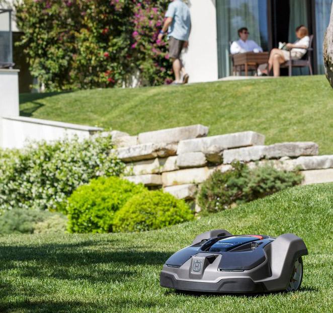 installera husqvarna robotgräsklippare