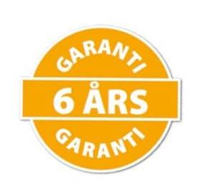 6 års garanti